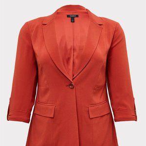 TORRID Red Blazer Size 0X (Fits Size 16) NWT